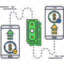 internet, mobile, money, online, payment, smartphone, transfer icon