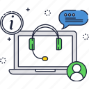 business, call center, chat, global, messages, support icon