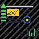 chart, finance, graph, sales, screen, statistics, upload icon