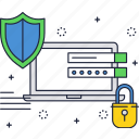 admin, cyber, guard, internet, locker, security, web icon