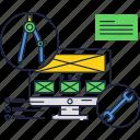 computer, development, internet, messages, website icon