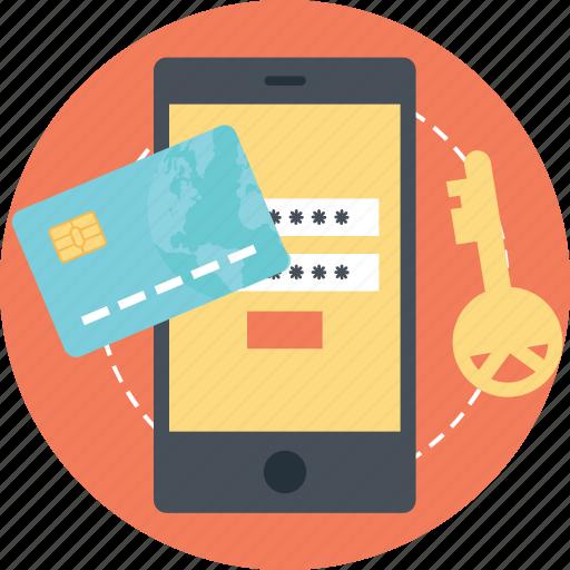 banking security, mobile banking, online banking, online banking protection, online transaction safety, safe transaction icon