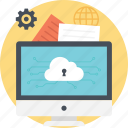 cloud computing protection, confidential data, cyber security, data encryption, data protection icon