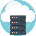 cloud hosting, cloud server, cloud service, cloud storage, internet cloud server icon