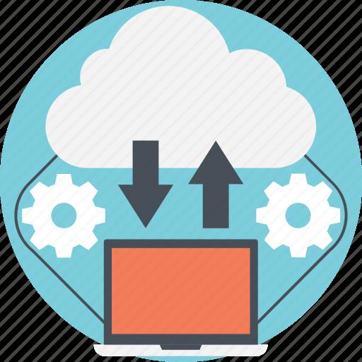 cloud data concept, cloud data platform, cloud server, cloud storage, online data storage icon