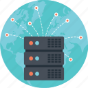 global server, global storage, internet hosting, internet of things, web hosting icon
