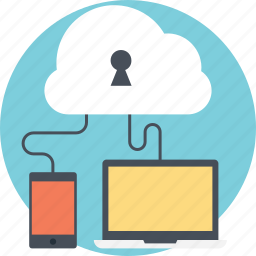 cloud computing security, cloud storage security, data protection, internet security, secure cloud access icon