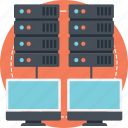 internet server, network server, network storage, storage area network, web hosting icon