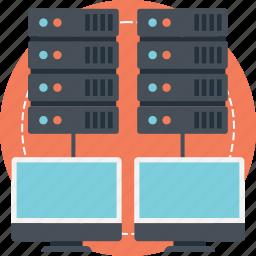 internet server, network server, network storage, storage area network, web hosting icon