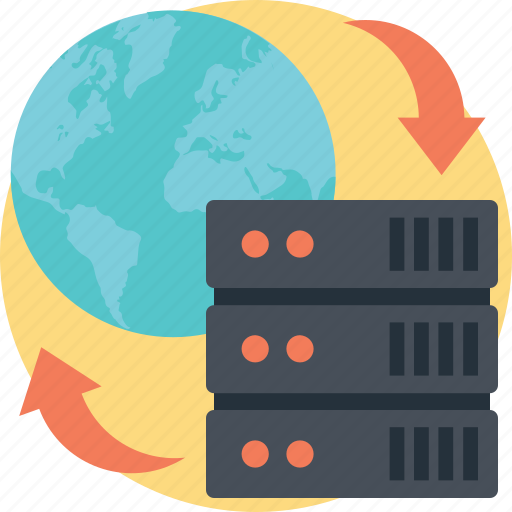 data backup, data recovery, data syncing, online backup, server backup icon