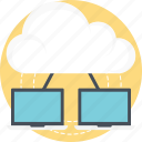 cloud computing, cloud data center, cloud technology, it concept, wireless technology icon