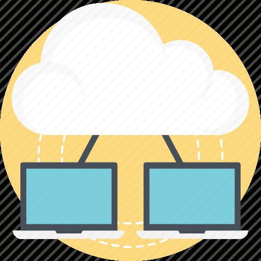 cloud computing, cloud data center, cloud technology, it concept, wireless technology icon