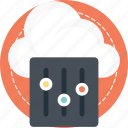 cloud application, cloud preferences, cloud services, cloud settings, network interface controller icon