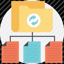 data center, data hosting, data network, data servers, data storage icon