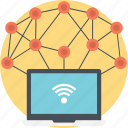 internet of things, iot concept, wireless network, wireless sensor network, wireless technology icon