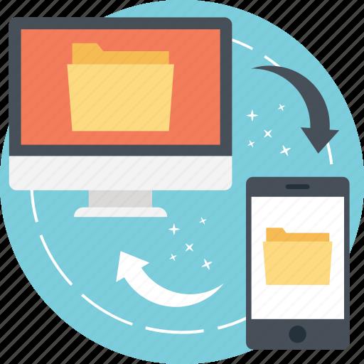 data exchange, data sharing, document sharing, file sharing, sharing information icon