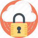 cloud computing security, cloud security, information security, network security, secure cloud technology icon