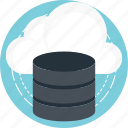 cloud computing, cloud database, cloud storage, computing platform, mysql backup icon