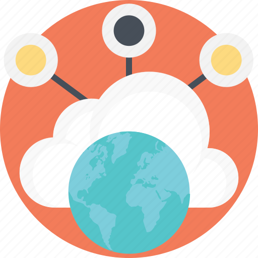 global connectivity, global network, interconnected computers, internet connection, network connection icon