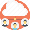 cloud computing, cloud connections, cloud network, cloud technology, wireless connectivity icon