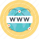 domain, http, url, world wide web, www icon