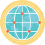global connections, global network, global technology, information technology, internet technology icon