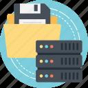 data archaeology, data backup, data erasure, data management, data recovery icon