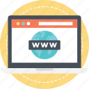 domain, http, url, website, www icon