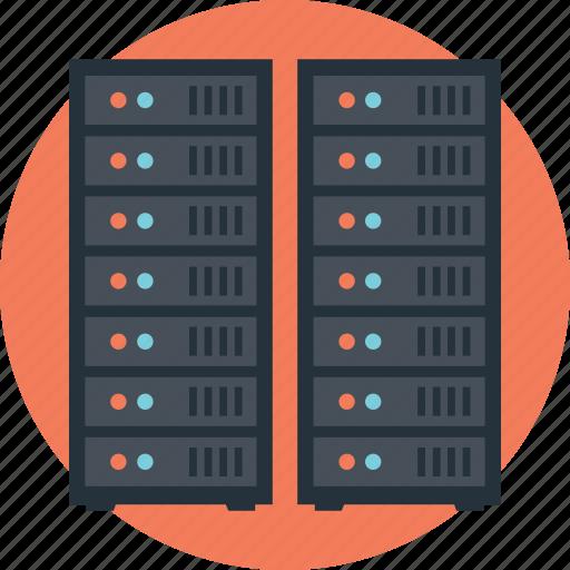 data center, database, hosting center, server, web hosting icon