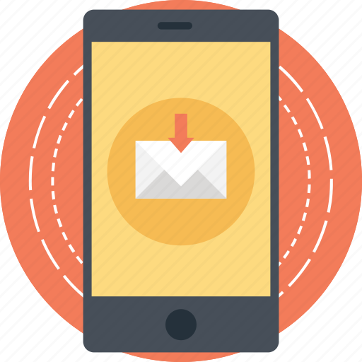 email notification, mobile email, mobile inbox, mobile message, new email icon