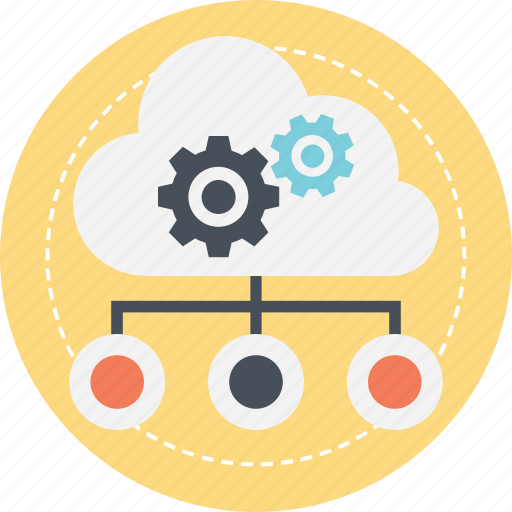 cloud computing management, cloud computing technology, cloud network service, cloud services, network configuration icon