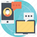 internet chatting, internet communication, internet connectivity, online communication