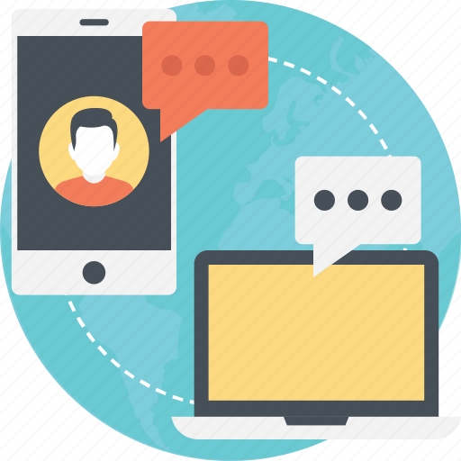 internet chatting, internet communication, internet connectivity, online communication icon