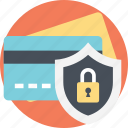 credit card, credit card protection, financial security, secure payment, secure transaction icon