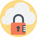 cloud computing security, cloud encryption, information security, network security, secure cloud technology icon