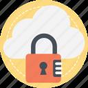 cloud computing security, cloud encryption, information security, network security, secure cloud technology icon
