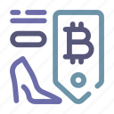 bitcoin, merchant, price, pricing, retailer, shopping, store icon