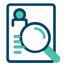 cv, glass, magnifier, resume, summary
