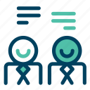 chat, conversation, dialogue, message, speech icon