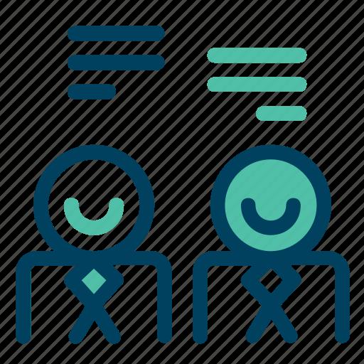 chat, conversation, dialogue, message, speech icon