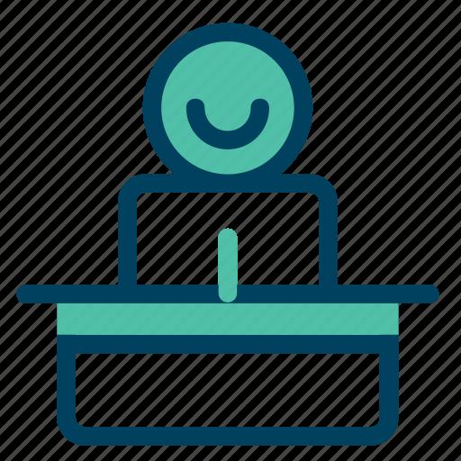 conversation, lector, perfomance, speech, talk icon