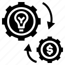 creative, exchange, idea, strategy, transfer icon