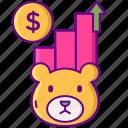 bear, exchange, finance, market, stock icon