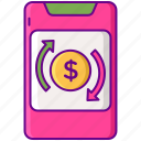 mobile, trading icon
