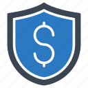 dollar, guard, protection, secure, shield icon