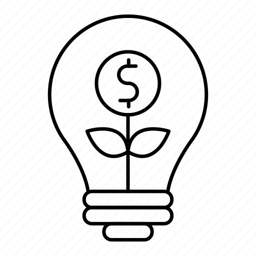 bulb, business, finance, idea, invest, investment, lamp icon