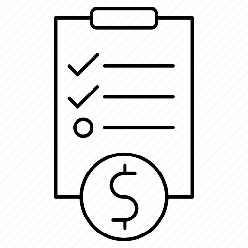 business, document, finance, investment, note, paper, survey icon