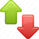 arrows, down, download, exchange, up, upload icon