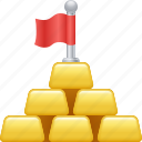 gold, gold bar, gold bullion, gold ingot, investment, wealth icon