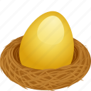 401k, golden egg, investment, nest egg, pension, retirement fund, savings icon